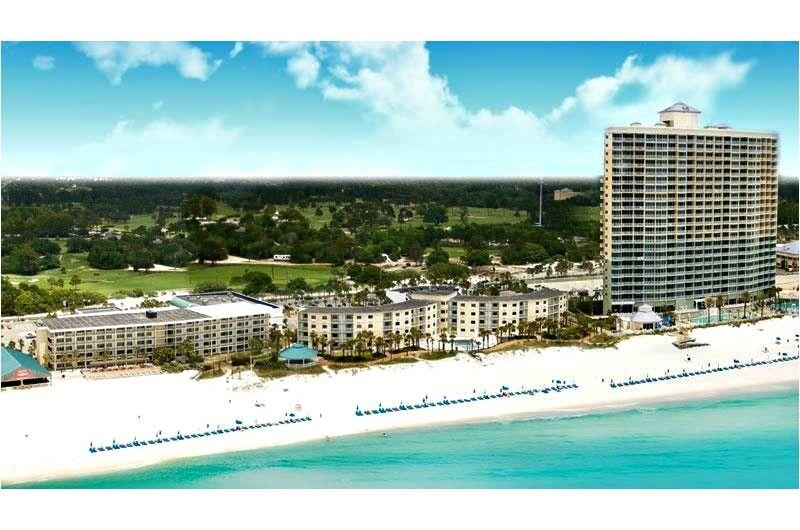 Overlook Deck With Beach View At Boardwalk Beach Resort Hotel In