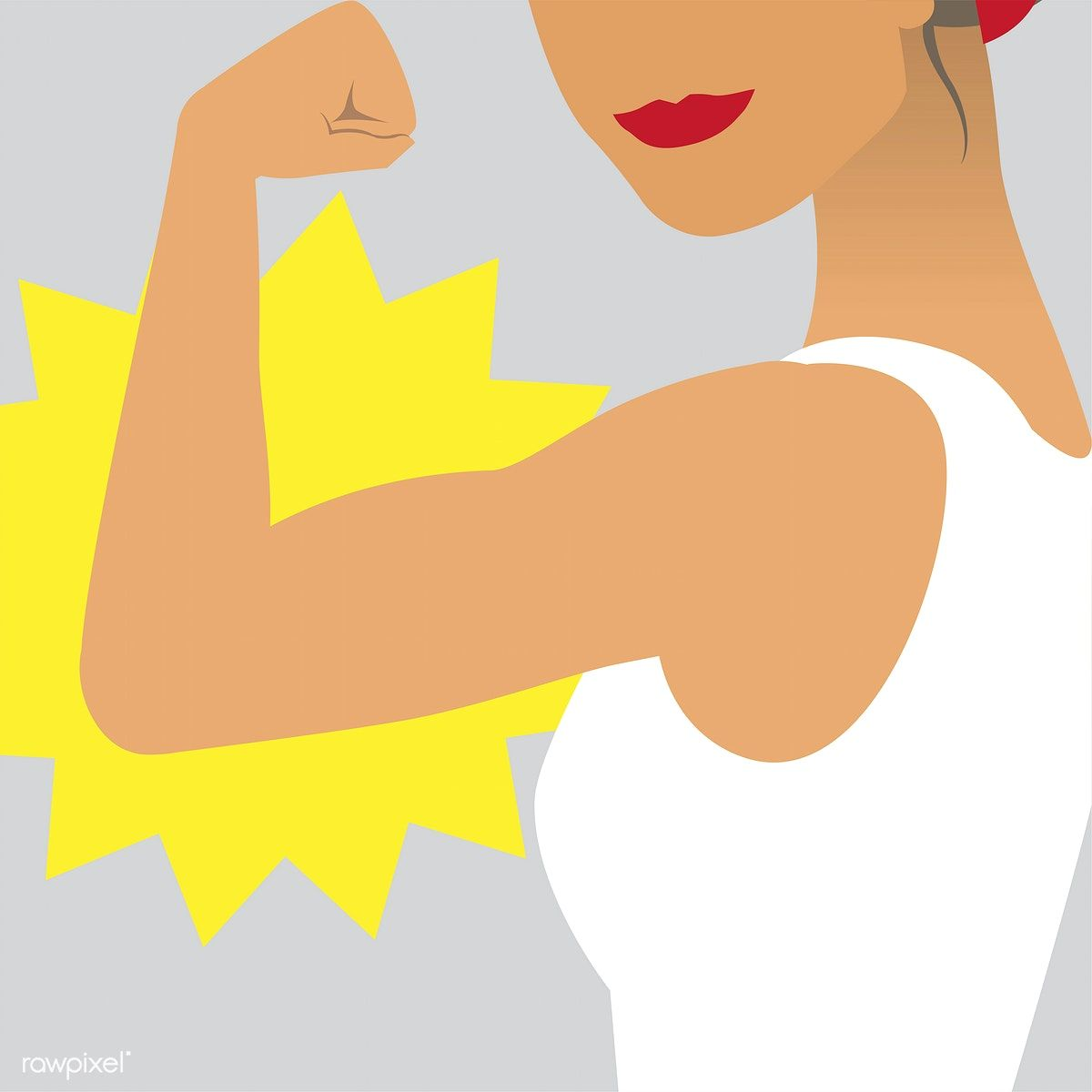 Female power and strength illustration | free image by rawpixel.com |  Strength illustration, Illustration, Girl power illustration