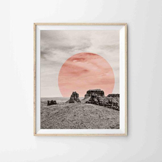 Modern Desert Print Archival Print - Geometric Southwest Art
