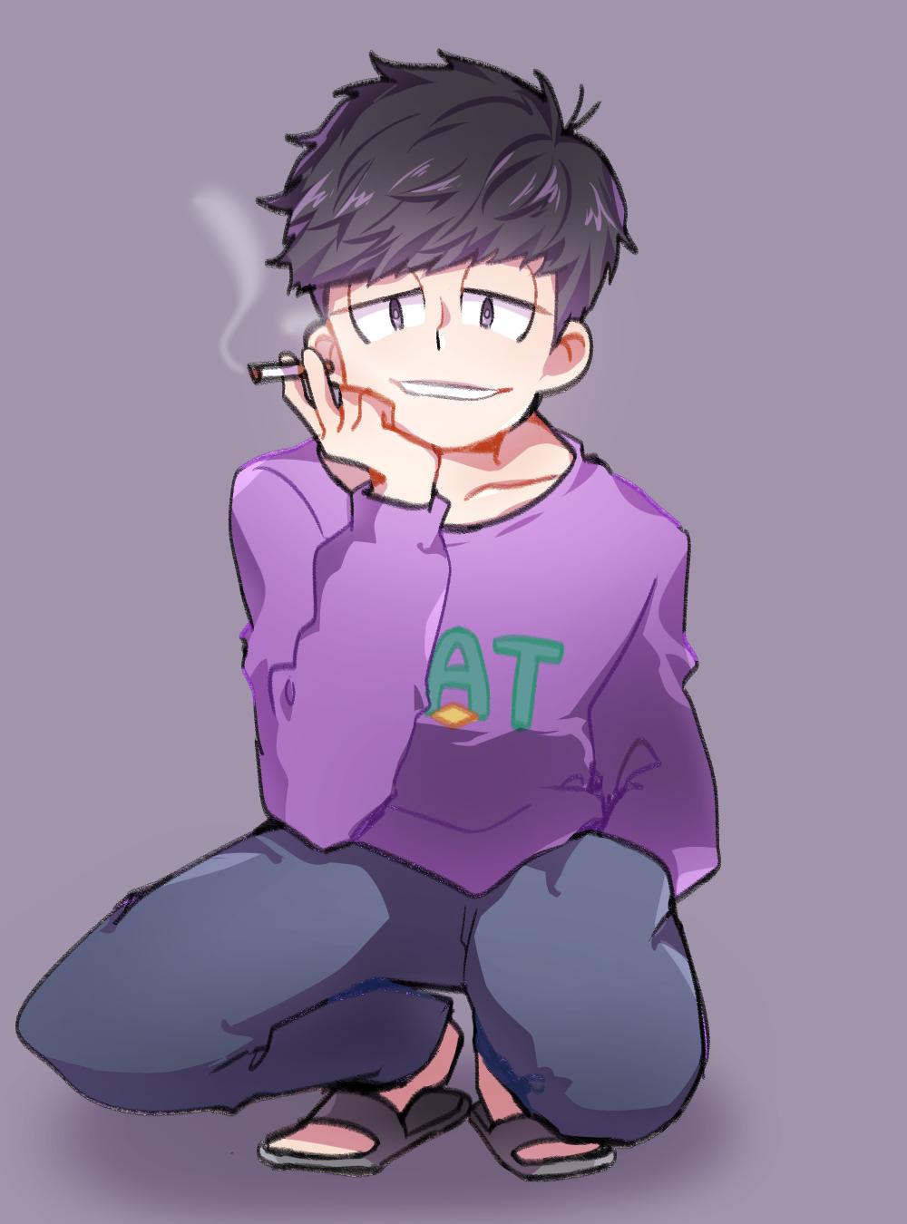 Ichimatsu smokes Osomatsusan Pinterest Smoking and