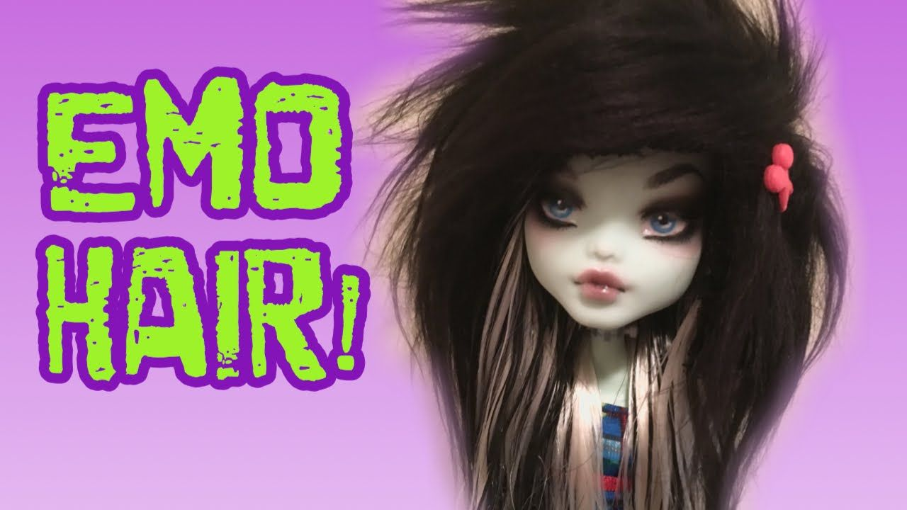 How to make emo hair for your doll fur wig tutorial youtube