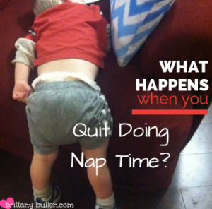 What happens when you stop putting your toddler down for naps