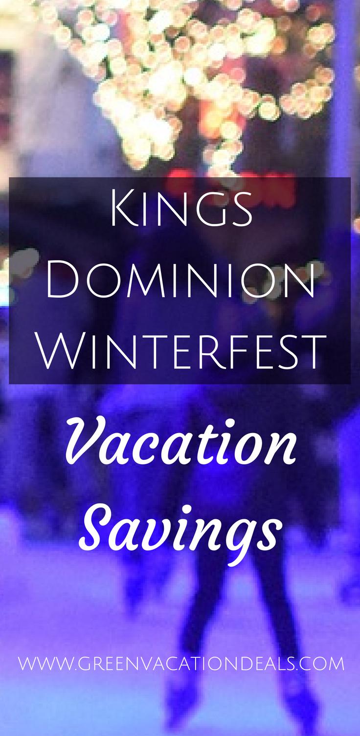 Kings Dominion Winterfest Vacation Savings | Christmas Holiday ...