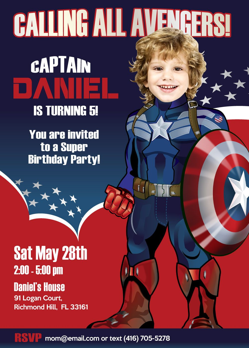 captain america birthday invitations captain america invitation captain america party ideas avengers party