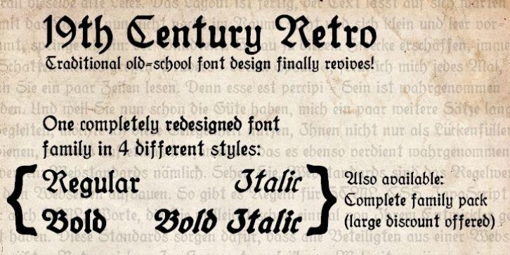 19th Century Retro Font Download Retro Font Retro Creative Design
