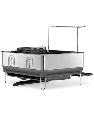 Simplehuman Steel Frame Dish Rack Compact Kitchen Gadgets