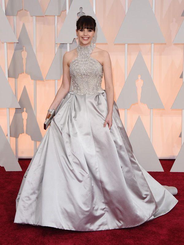Felicity Jones in Alexander McQueen at the 87th Academy Awards