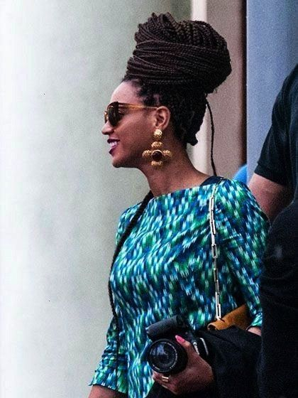 recent Photo 16 Celebrity Braids to Copy Right Now Celebrity Braids Beyonce BoxBraid Bun  Concepts Braids are most likely among the earliest hairstyles that have been tra...