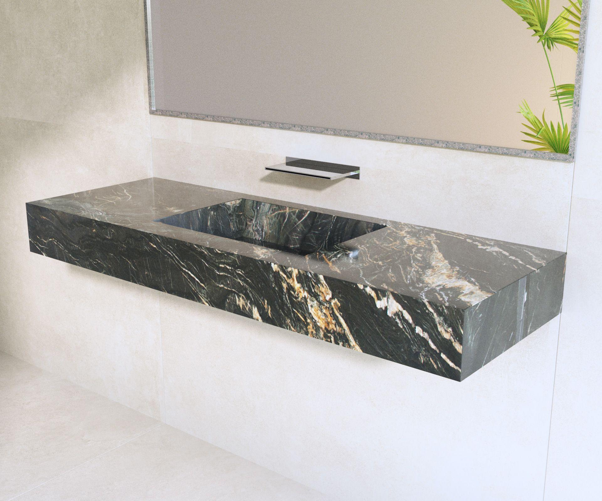 Salle de bain - Plan vasque en Granit Belvédère - Architecture