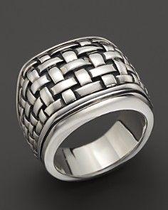 12e6966e5 Scott Kay Sterling Silver Basketweave Ring | Men's Fashion | Jewelry ...