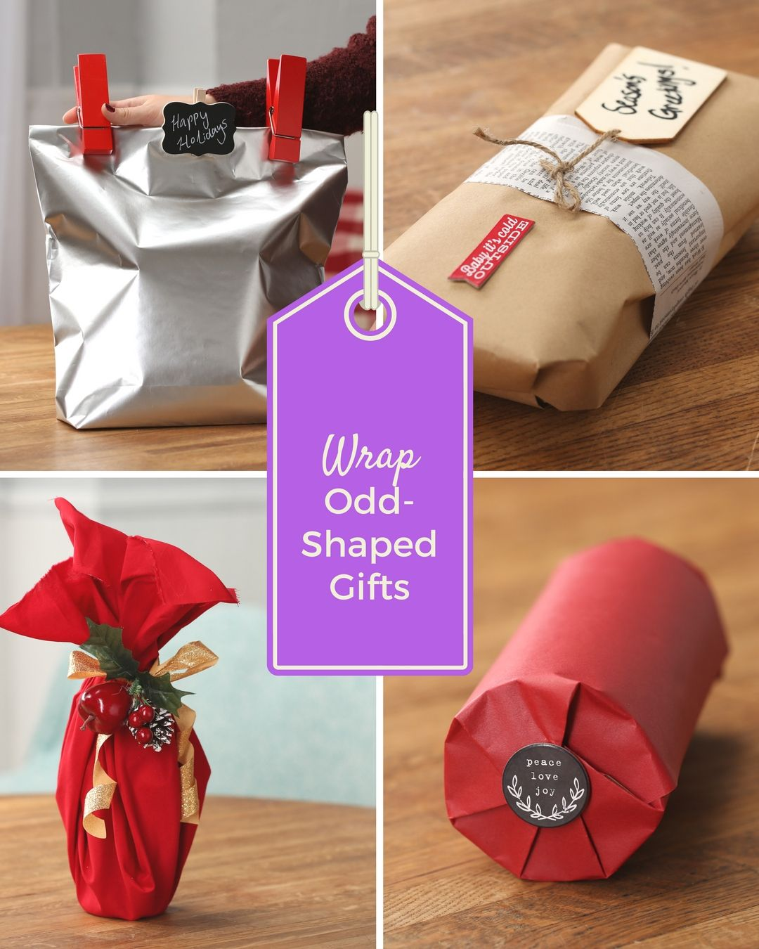 How To Wrap Oddly Shaped Gifts | Gift Tags and Wrapping | Pinterest ...