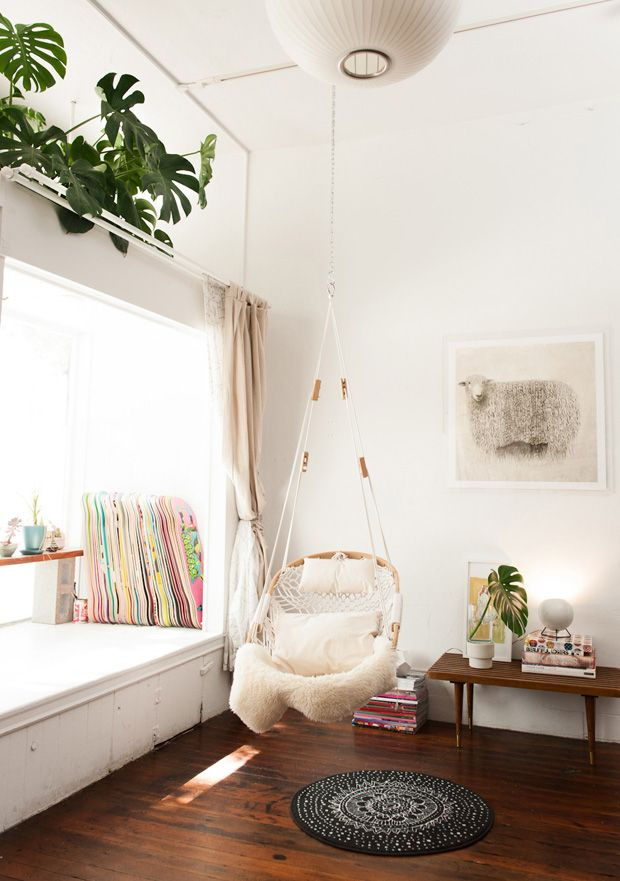 Hanging Chair Decor Covers White Wedding Plants Indoor Greeninside