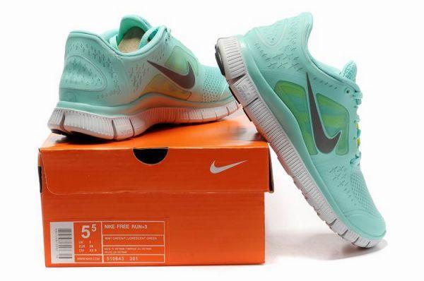 Nike Free Run 3 Women's Running Shoes Mint GreenReflective