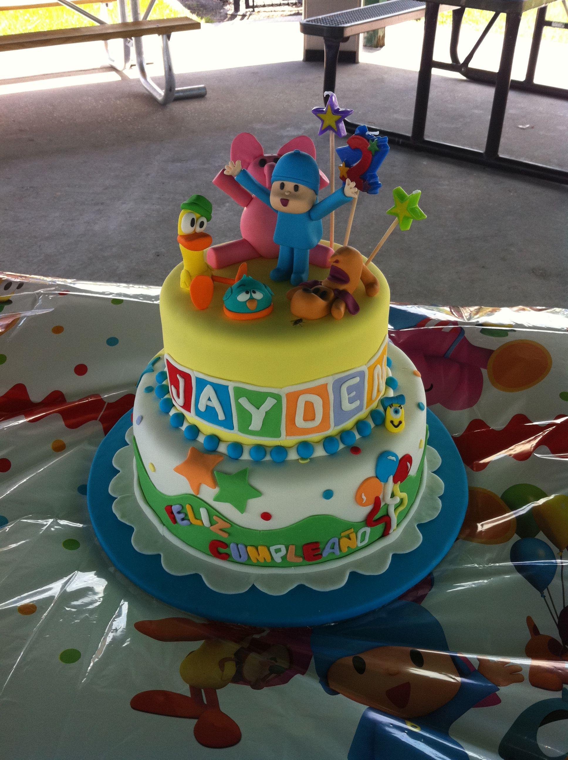 Pocoyo Birthday Cake Dreamcakes By Millie Pinterest Pocoyo