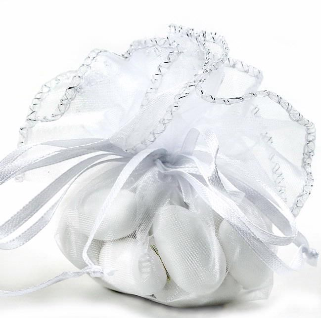 White Organza Bags 12ct Bag 5 99 Empty Mesh Party