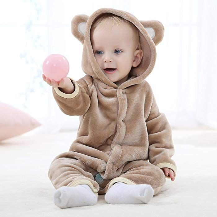 01fb2abd64fd MICHLEY Baby Romper Hooded Newborn Toddler Boys Girls Jumpsuit ...