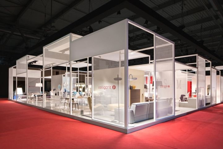 Exhibition Stand Lighting Zone : Calligaris stand at salone del mobile by nascent