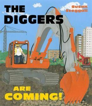굴착기다! | 32 페이지, 276mm x 240mm, 2012년 11월 출간, 4세 이상 | 건축현장에 도착한 굴착기, 트럭, 크레인, 불도저가 바쁘게 움직이는 모습을 생동감 있게 담고 있는 그림책이다.