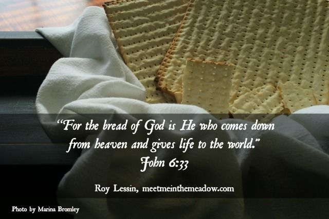 """John 6:32-33 (NKJV) ~~ Then Jesus said to them, """"Most assuredly, I say to you, Moses did not give you the bread from heaven, but My Father gives you the true bread from heaven. For the bread of God is He who comes down from heaven and gives life to the world."""" ~~ Bread of Life, Series part 1 by Roy Lessin, photo by Marina Bromley"""