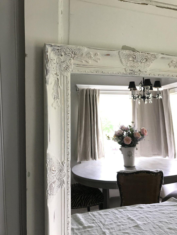 Farmhouse mirrorwall hanging mirror white distressed
