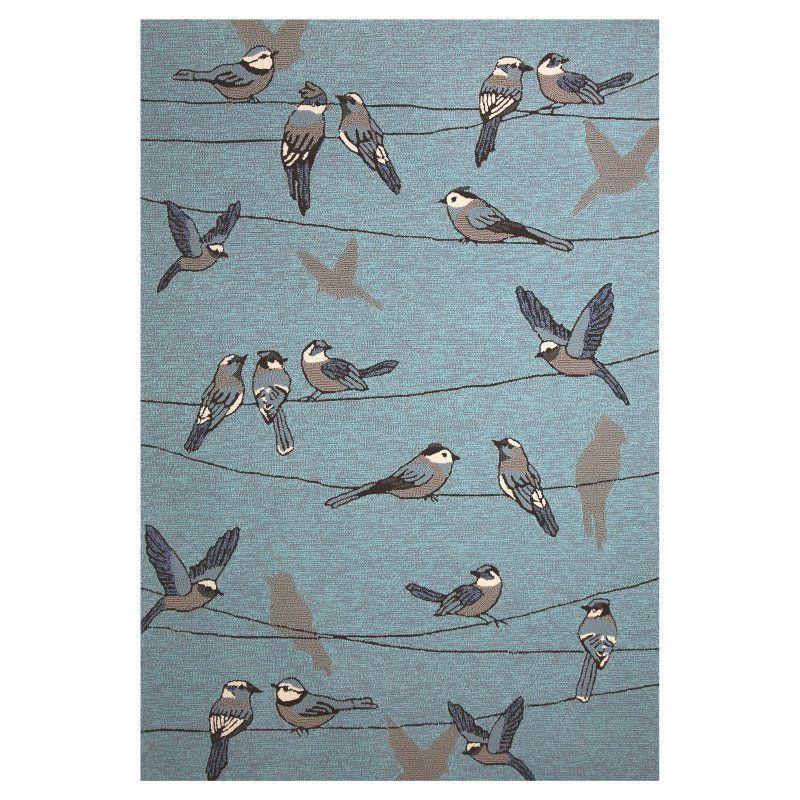KAS Rugs Harbor Birds On A Wire Indoor/Outdoor Area Rug - HAR42212X3 ...