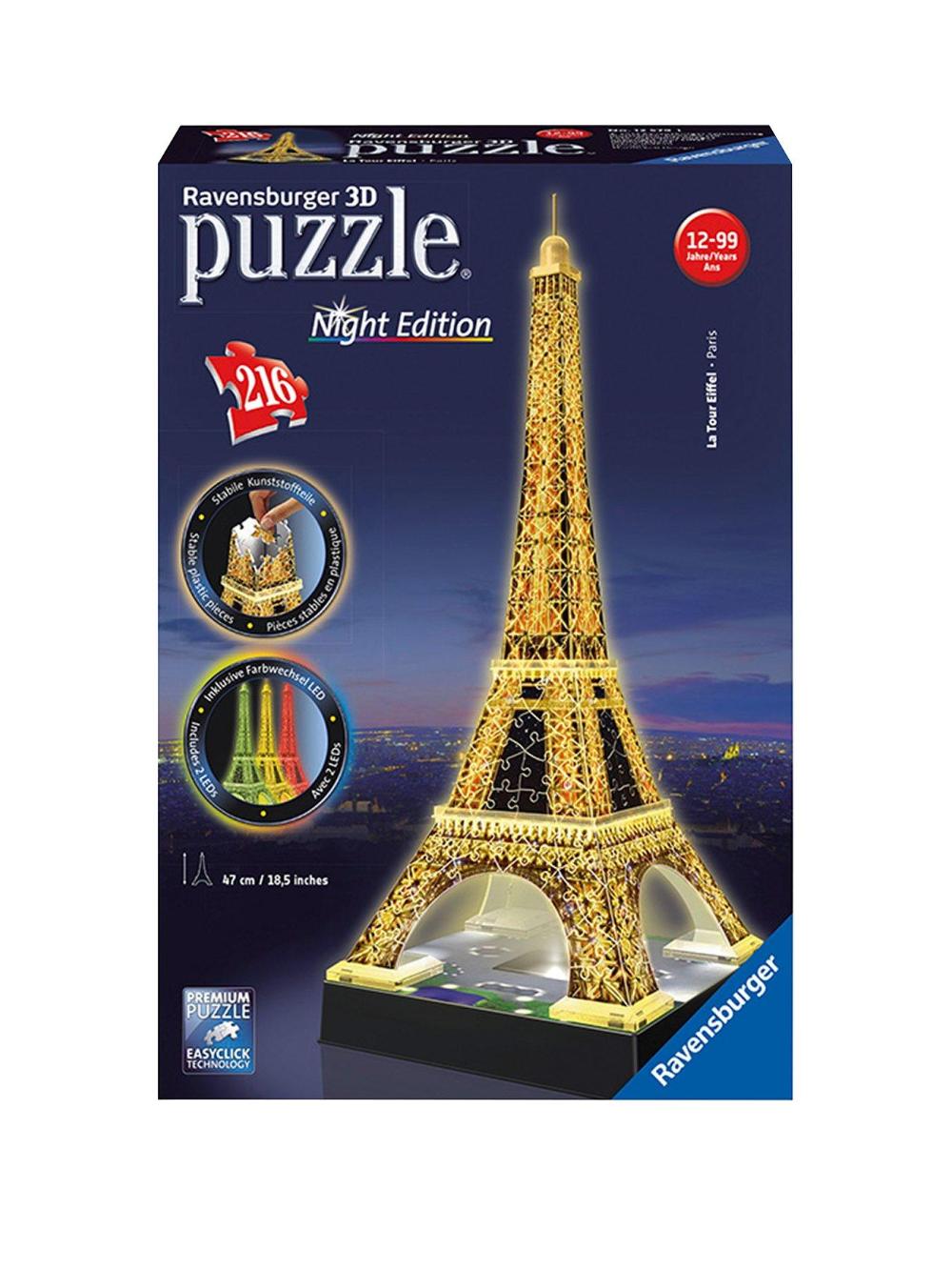 Ravensburger Eiffel Tower Night Edition 3d Puzzle In 2020 Eiffel Tower 3d Puzzle Eiffel Tower Puzzle Eiffel Tower
