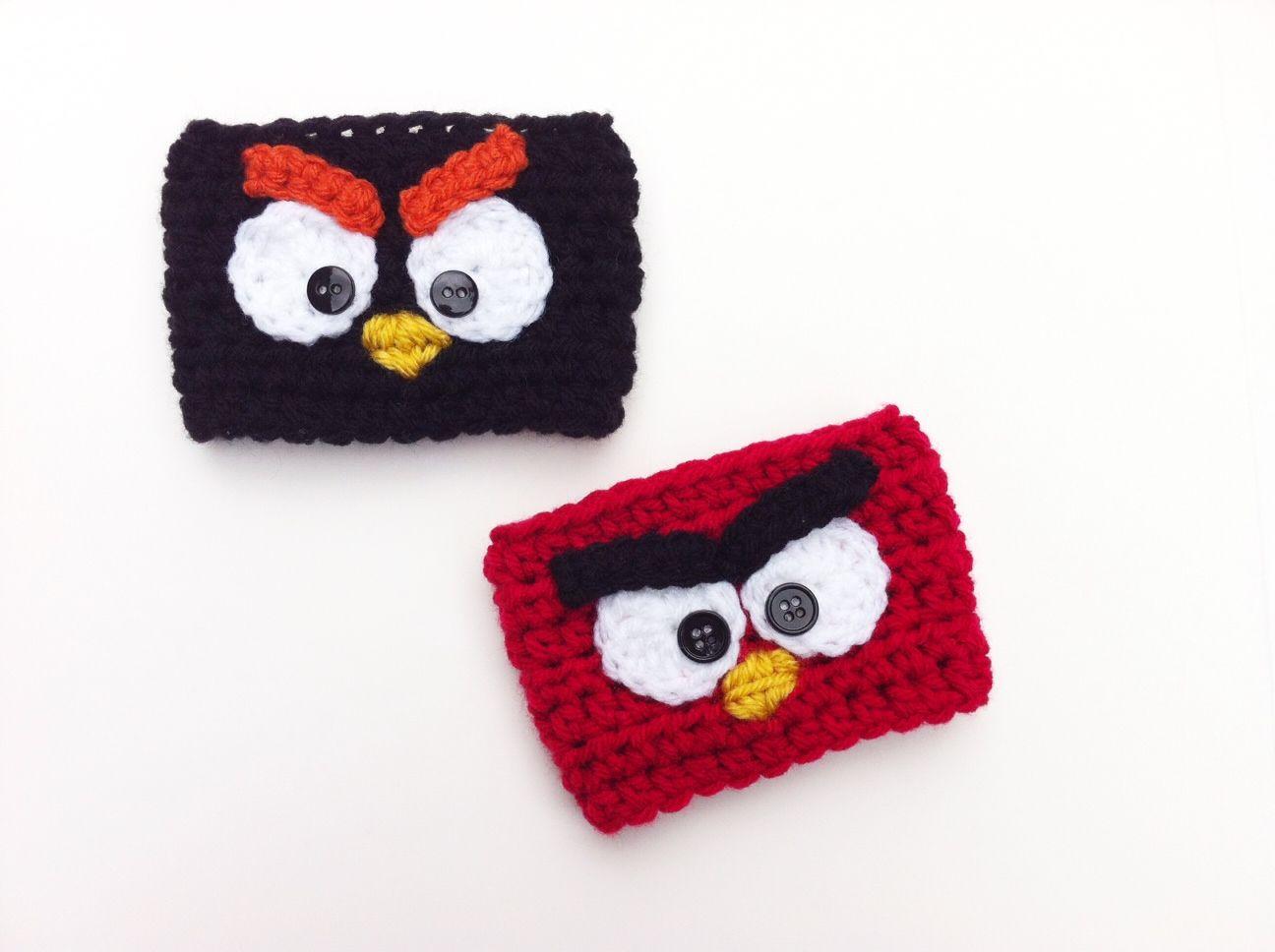 Crochet Angry Birds Coffee Cozies | 6. Szydełkowe zabawy | Pinterest ...