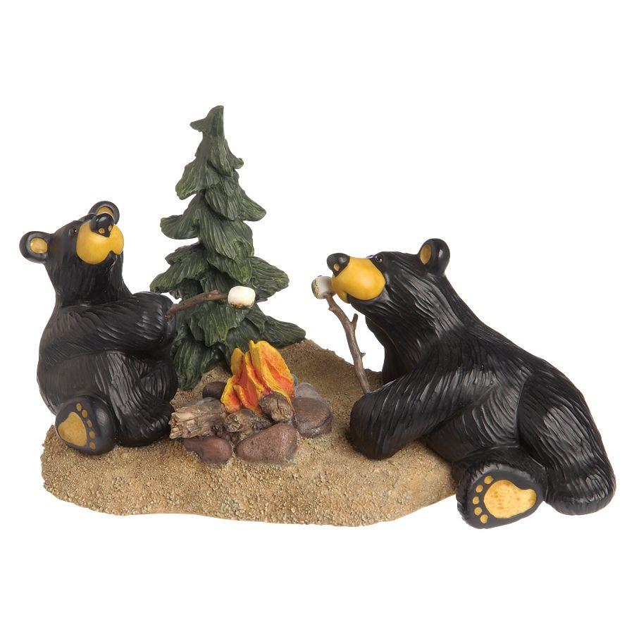 DEMDACO Black Forest Decor Bear Canoe Trip Sculpture