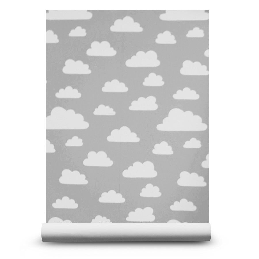 Farg form baby changing table mat grey clouds - Clouds Grey