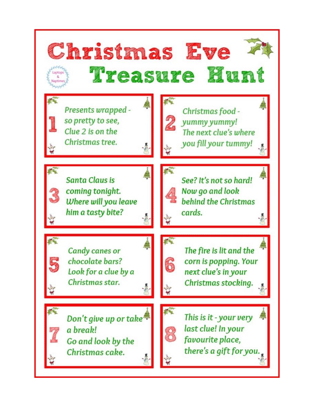 xmas eve treasure hunt.pdf Google Drive Treasure hunt