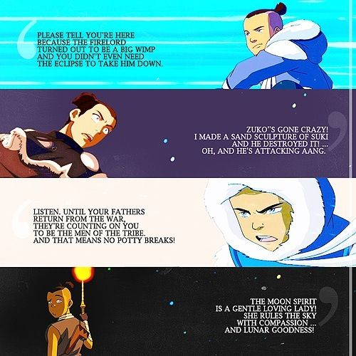 Sokka quotes in all their sokkaness The last airbender