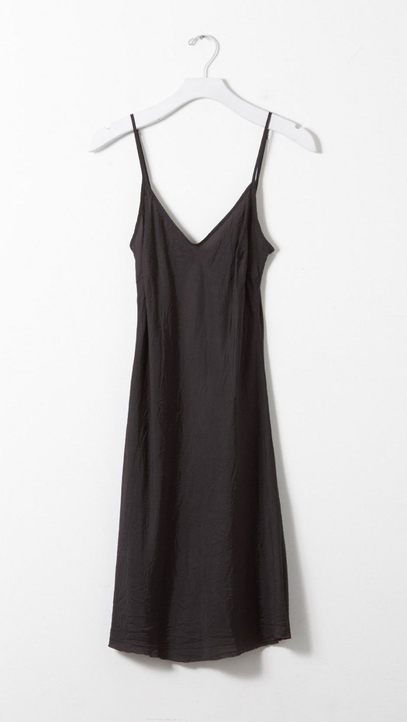57551515e2c8a Black · Organic by John Patrick Short Slip Dress in Shadow