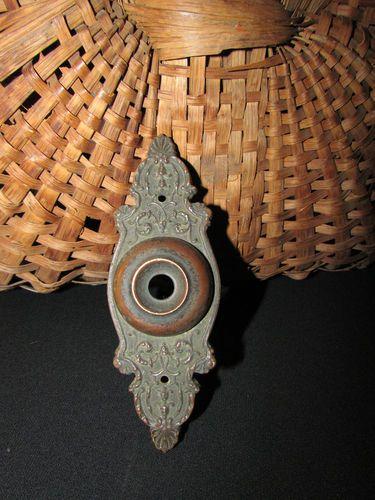 1870u0027s Ornate Brass Door Bell Cover