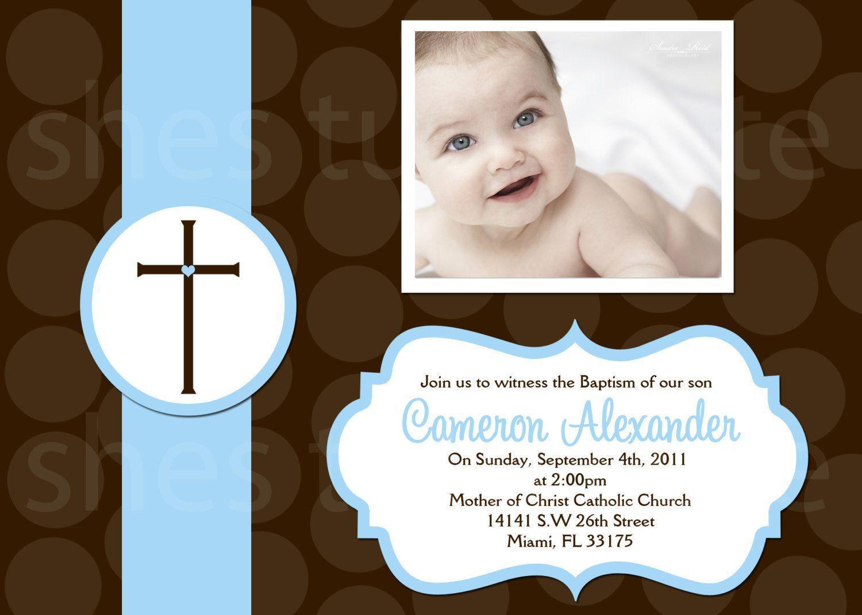 1st birthday christening invitations | baptism invitations ...