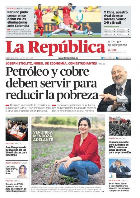 Edición Impresa Lima 09-10-2015 | LaRepublica.pe