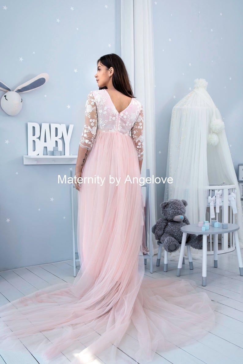 Photo of Maternity Dress for Photo Shoot – Blush Maternity Robe