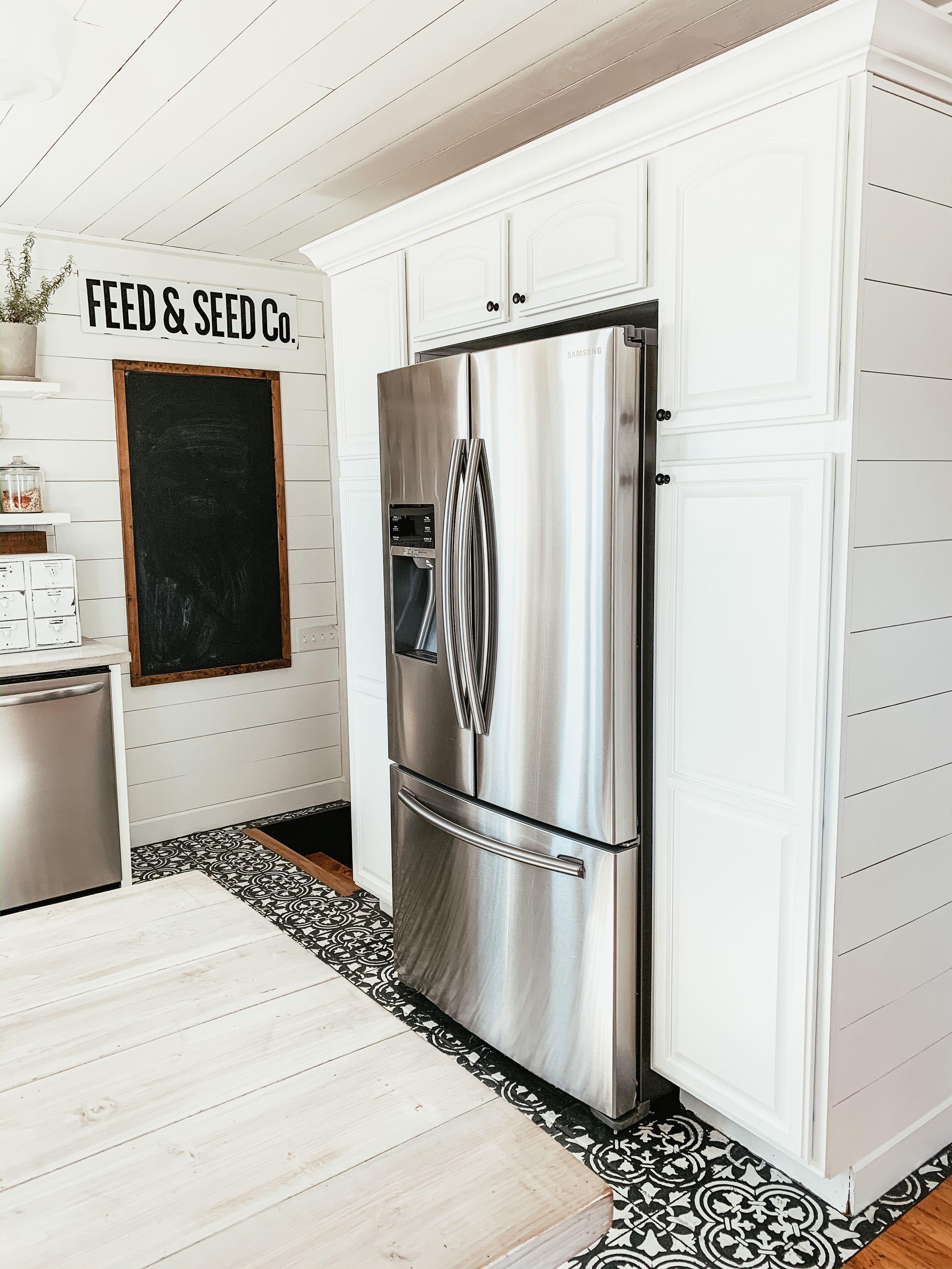 Builtin look with samsung counter depth refrigerator