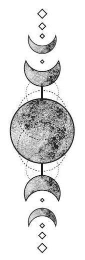 Photo of Lune vintage 40×120 mm – Then & When – art de tatouage, tatouage temporaire, tatouage de bras, ….