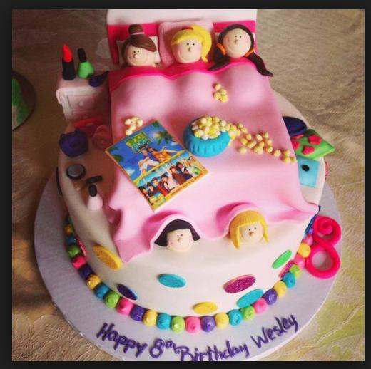 slumber party birthday cake Birthday ideas Pinterest Slumber