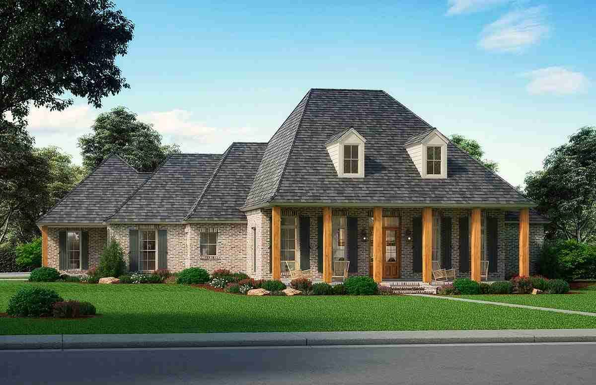 Farmhouse Style House Plan with 4 Bed 4 Bath 3 Car Garage