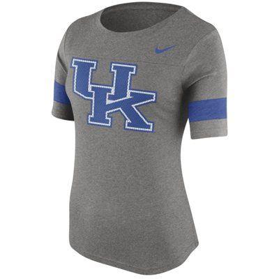Women's Nike Gray Kentucky Wildcats Stadium Fan Top