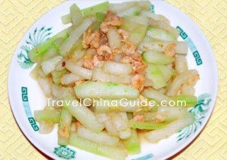 Dried Shrimps and Winter Melon (Wax Gourd) Recipe #wintermelon