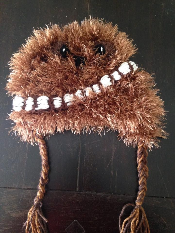 Infant Chewbacca crocheted hat from Star Wars  2d94b89181e