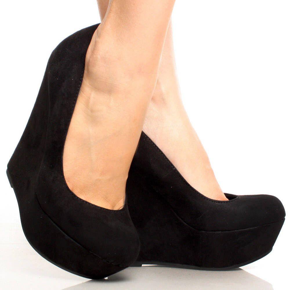 Suede Wedge Heels