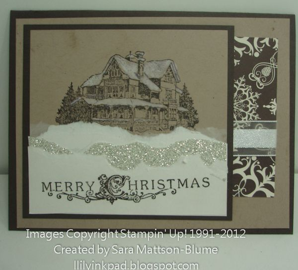 Lily's Ink Pad: Glittery, Merry Christmas