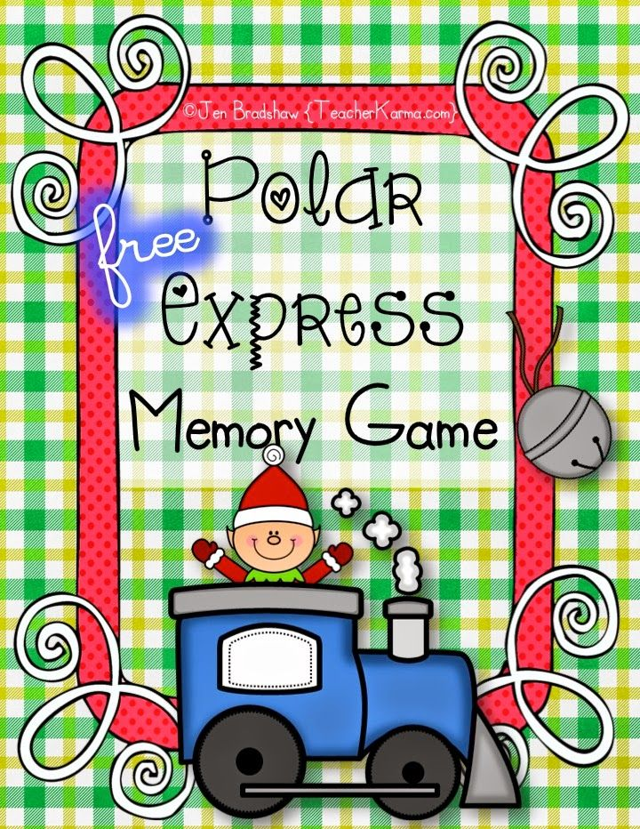 FREE: Polar Express Memory Game with Comprehension ...
