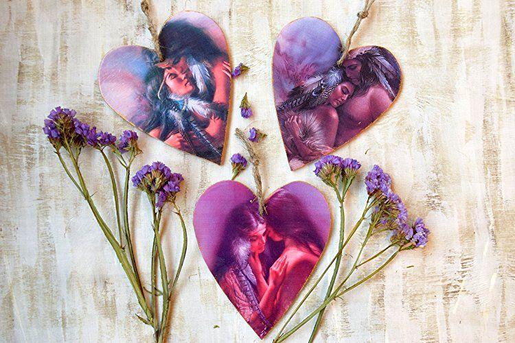 Heart ornament valentine decoration wedding favors love