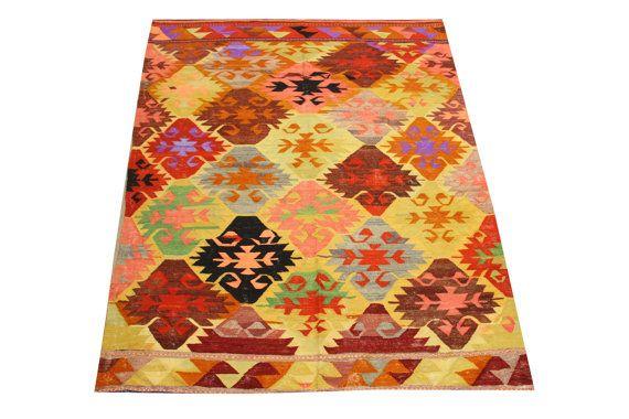 Oriental Turkish Kilim rug 8,3 x 5,7 Feet Ethnic rug kilim Decorative rugs carpet  Large size rugs Kilim Vintage kilim rug Area rugs Y-543