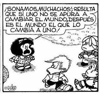 El Mundo Nos Cambia Mafalda Quotes Words Humor