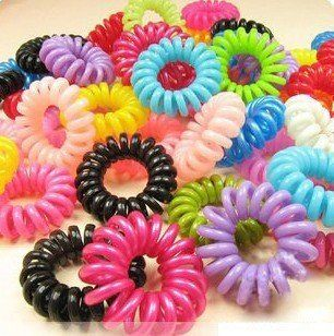 mix colors candy   mix color candy hair ring hair rope Hair clips hair band small hoop ...